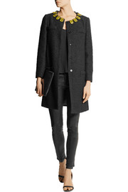 Moschino Cheap and Chic Embellished bouclé coat