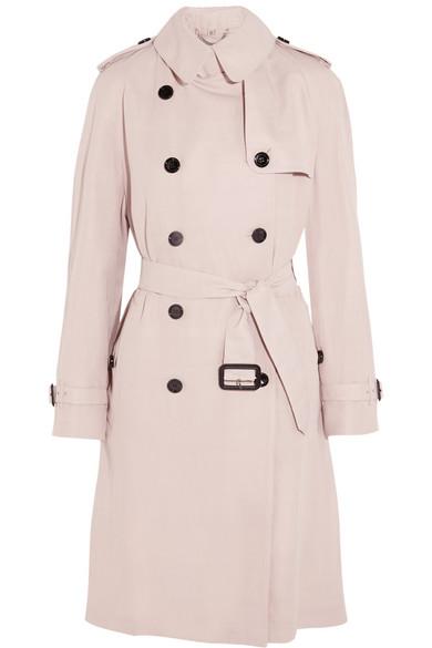 Burberry - Gabardine Trench Coat - Pastel pink