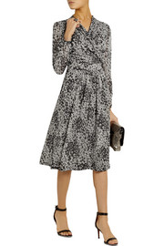 Burberry London Leopard-print silk-chiffon wrap dress
