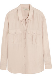 Burberry London Washed-silk shirt
