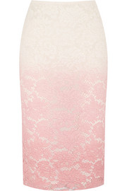 Dip-dyed lace skirt