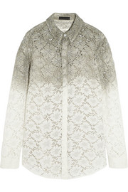 Burberry Prorsum Dip-dyed lace shirt