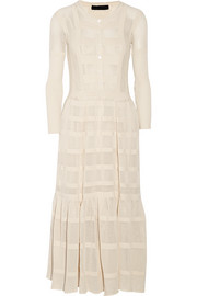 Open-knit cotton dress