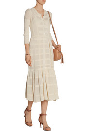 Burberry Prorsum Open-knit cotton dress