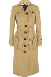 Cotton-blend gabardine coat