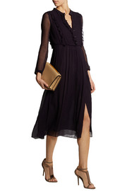 Burberry Prorsum Silk-georgette midi dress