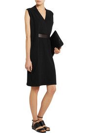 Maison Martin Margiela Belted wool and silk-blend dress