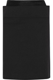 Stretch-cotton drill pencil skirt