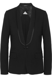 Split-back stretch-wool blazer