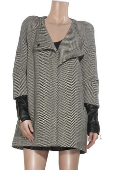 PreenAztec alpaca herringbone coat
