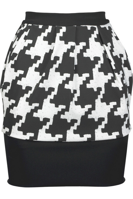Houndstooth stretch layered skirt PREEN from net-a-porter.com
