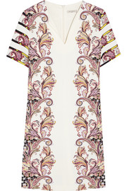 Etro Printed stretch-ponte mini dress