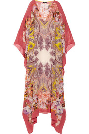 Etro Printed silk-chiffon maxi dress