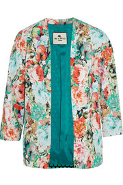 Etro Cropped printed crepe jacket