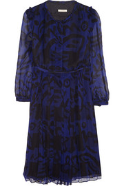 Burberry Brit Printed silk-chiffon dress