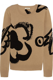 Burberry Brit Intarsia wool and cashmere-blend sweater