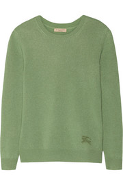 Cashmere and cotton-blend sweater