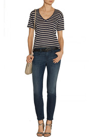 Burberry Brit Striped slub linen-jersey T-shirt