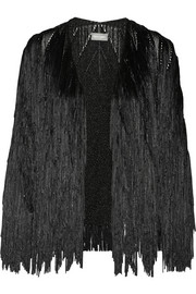 Finds + Tim Ryan fringed knitted jacket