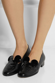Finds + Minna Parikka Mousey patent-leather and leather loafers
