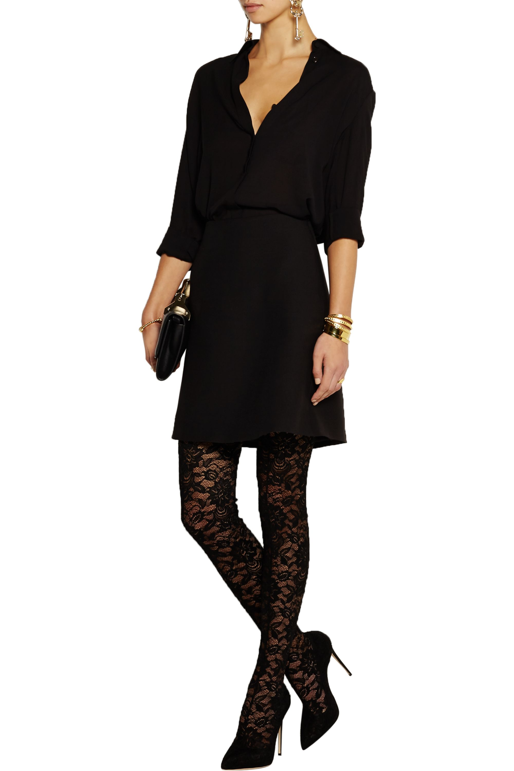 Dolce & Gabbana Stretch-lace thigh boots