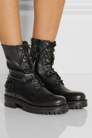 Dolce & Gabbana Leather biker boots