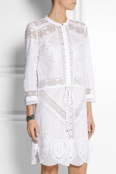 White embroidery anglaise dress makaroka