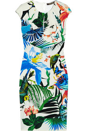 Roberto Cavalli Printed stretch-jersey mini dress