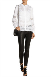 Roberto Cavalli Broderie anglaise cotton shirt