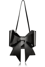MM6 Maison Martin Margiela Bow-embellished PU shoulder bag