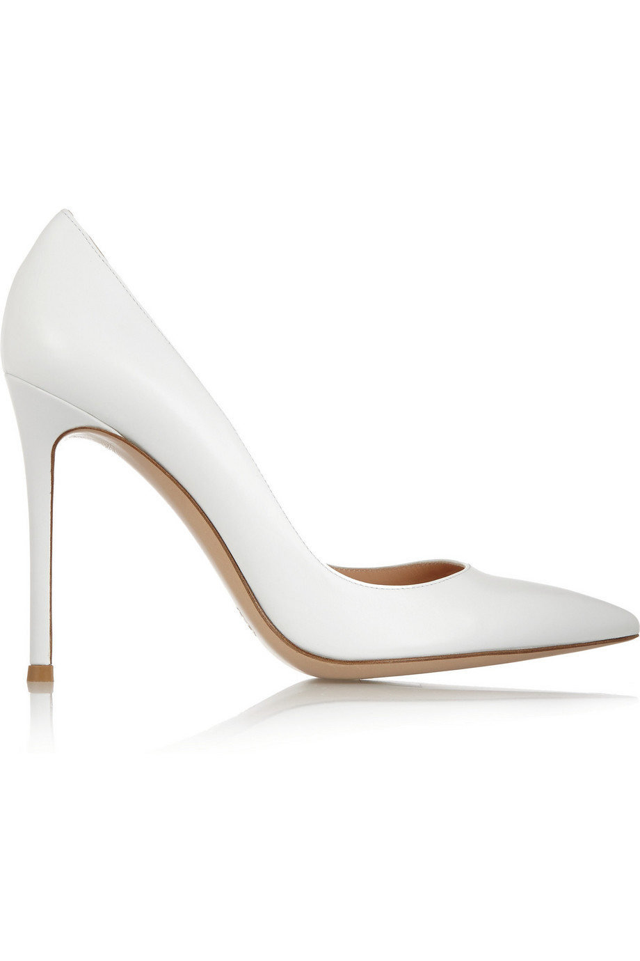 Gianvito Rossi Leather Pumps, White, Women's US Size: 7.5, Size: 38