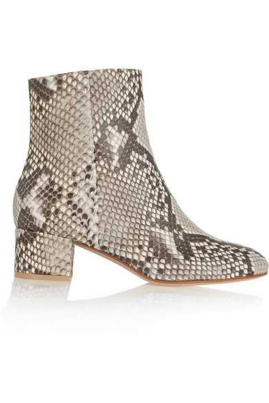 Gianvito Rossi - Python Ankle Boots - Snake print