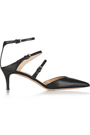 Gianvito Rossi Leather point-toe pumps