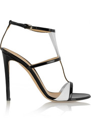 Two-tone patent-leather sandals