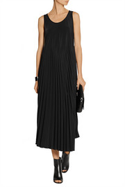 MM6 Maison Martin Margiela Pleated crepe de chine midi dress