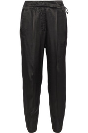 MM6 Maison Martin Margiela Satin-twill tapered pants