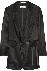 MM6 Maison Martin Margiela Satin-twill wrap blazer