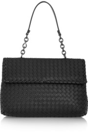 Olimpia intrecciato leather shoulder bag