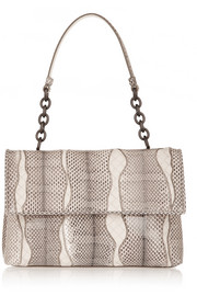 Bottega Veneta Olimpia small leather-paneled ayers shoulder bag