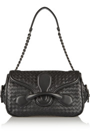 Rialto intrecciato leather shoulder bag