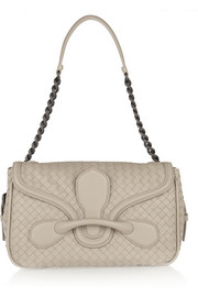 Rialto medium intrecciato leather shoulder bag