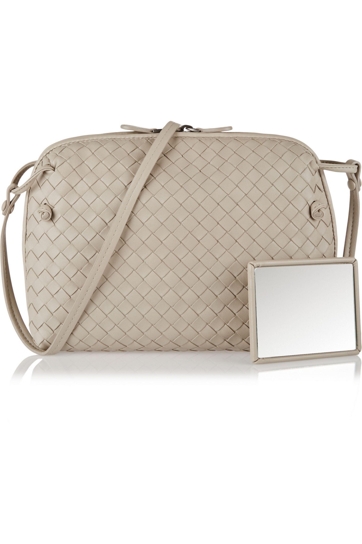 Bottega Veneta Messenger intrecciato leather shoulder bag