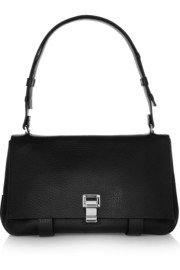 Proenza Schouler PS Courier medium textured-leather shoulder bag