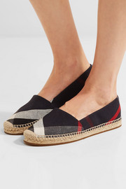 Burberry Shoes & Accessories Checked canvas espadrilles