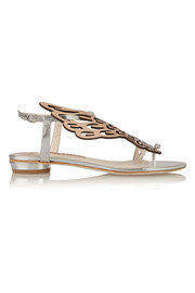 Seraphina mirrored-leather sandals