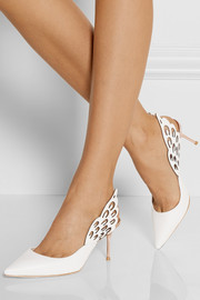 Sophia Webster Angelo cutout leather slingback pumps