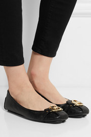 MICHAEL Michael Kors Fulton textured-leather ballet flats