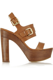 Beatrice leather platform sandals