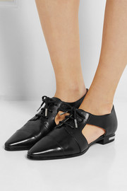 Graham cutout leather lace-ups