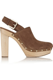 Beatrice suede slingback clogs